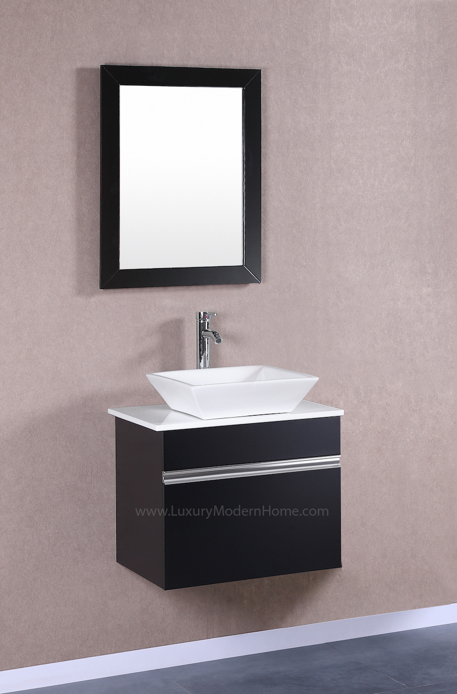 Marcus 24 Quot Small Black Vanity Sink