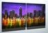 "Nightscape 2 - 20"" x 40"" Metal 3D Wall Art - 2 Piece Art"