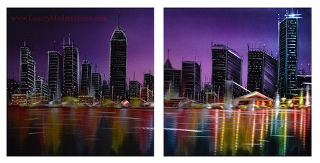 "Nightscape 2 - 20"" x 40"" Metal Wall Art"