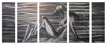 "Nude 3 - 24"" x 60"" Metal Wall Art"