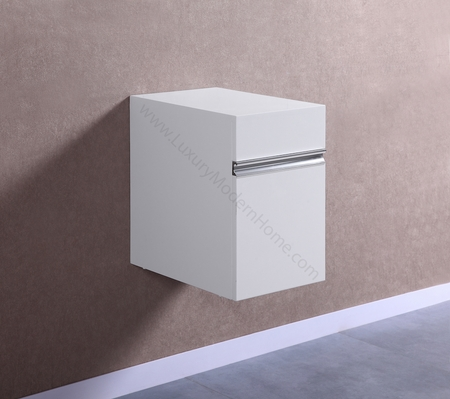 "PETRONIUS - 12"" x 18"" x 19"" Small White Cabinet"