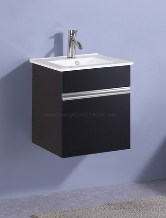 "PETRONIUS - 16.5"" x 16.5"" x 20"" Square Small Black Vanity Sink"