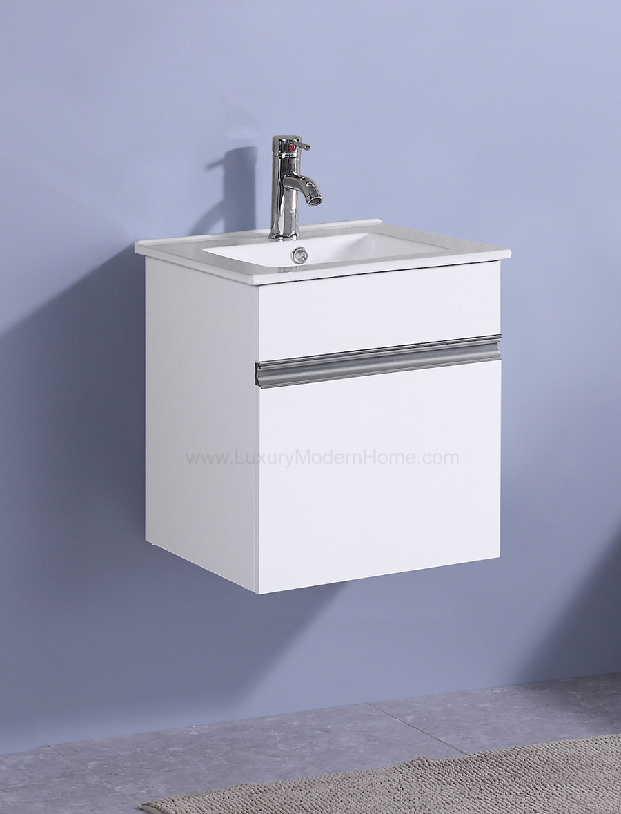 PETRONIUS 165 x 165 x 20 Square Small White Vanity Sink