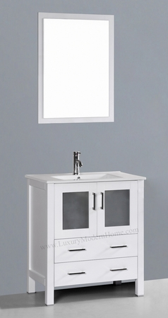 "PETRONIUS 2 - 30"" Freestanding White Vanity Sink"