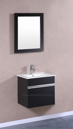 "PETRONIUS - 20"" Small Black Vanity Sink"