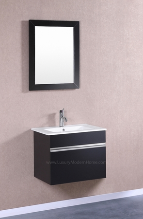 "PETRONIUS - 24"" x 18"" x 20"" Small Black Vanity Sink"