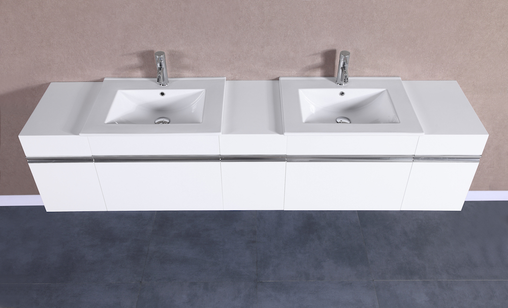 PETRONIUS 30 White Vanity Sink