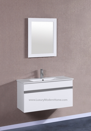 "PETRONIUS - 36"" White Vanity Sink"