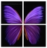 "Purple Butterfly - 32"" x 32"" Metal Wall Art"
