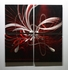 "Red Velvet Bowtie - 32"" x 32"" Metal 3D Wall Art - 4 Piece Art"
