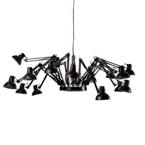 Reproduction Dear Ingo Spider Lamp - 16 Head - Black