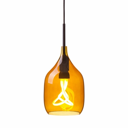 Reproduction Decode Vessel Lamp - Amber