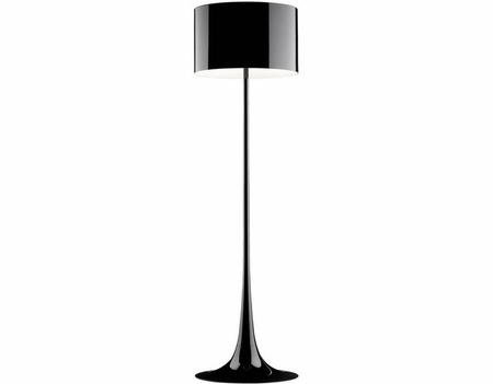 Reproduction Spun Floor Lamp - Black
