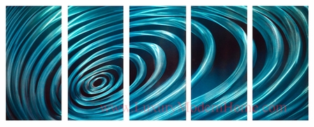 "Ripple Effect - 24"" x 60"" Metal Wall Art"