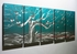 "Spring Flowering Tree 1 - 24"" x 60""Metal 3D Wall Art - 5 Piece Art"
