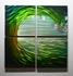 "Tidal Wave 2 - 32"" x 32"" Metal 3D Wall Art - 4 Piece Art"