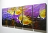 "Tropical Butterfly Fish 1 - 24"" x 60"" Metal 3D Wall Art - 5 Piece Art"
