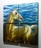 "White Horse - 32"" x 32"" Metal 3D Wall Art - 4 Piece Art"