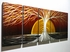 "Winter Sunset 2 - 24"" x 60"" Metal 3D Wall Art - 5 Piece Art"