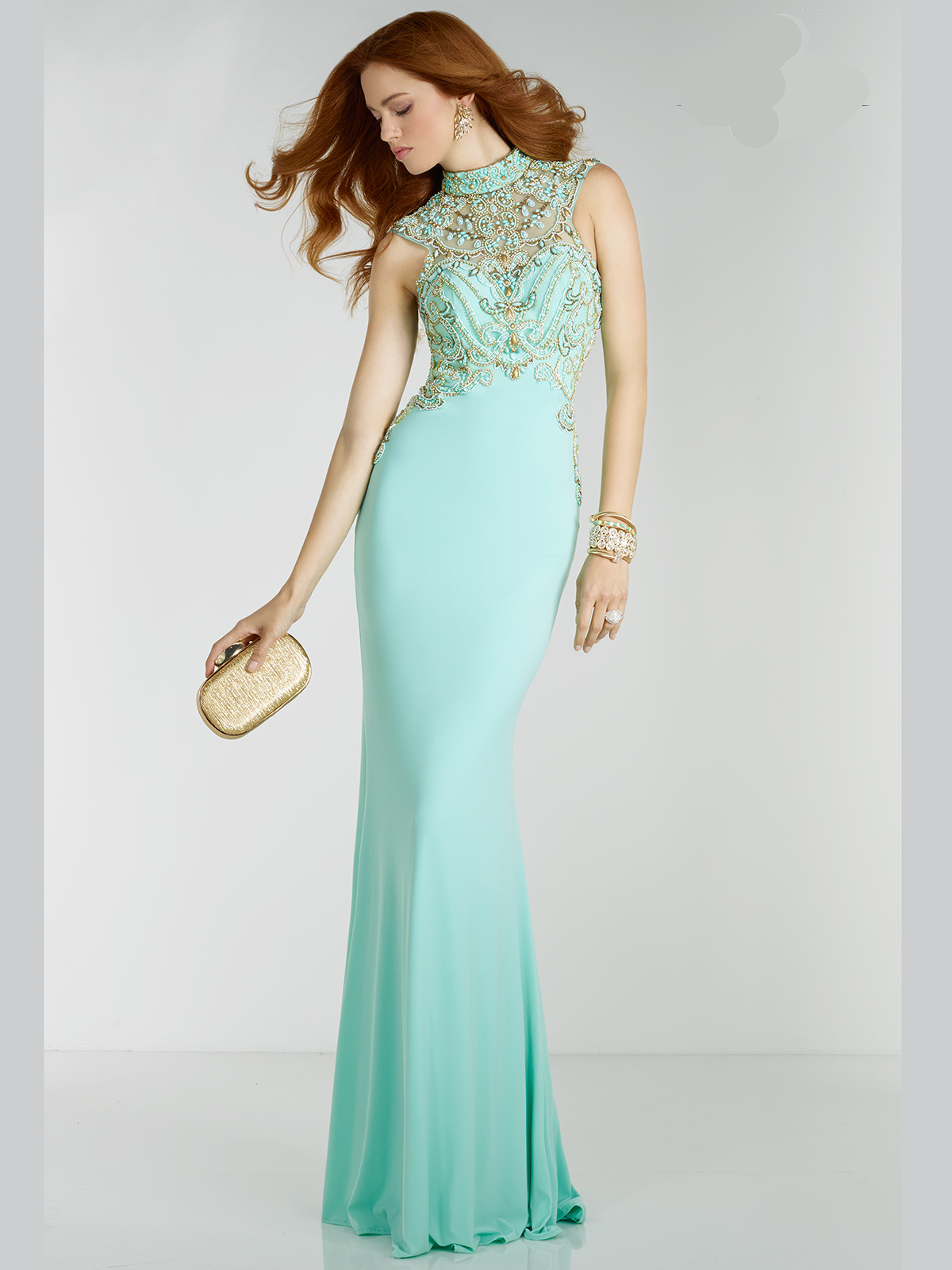 Green High Neck Prom Dresses – fashion dresses