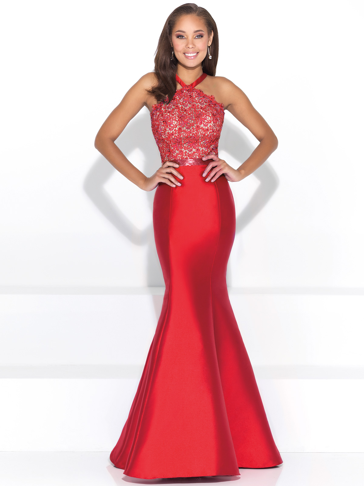 Madison James 17-254 Halter Mermaid Prom Dress|DressProm.net