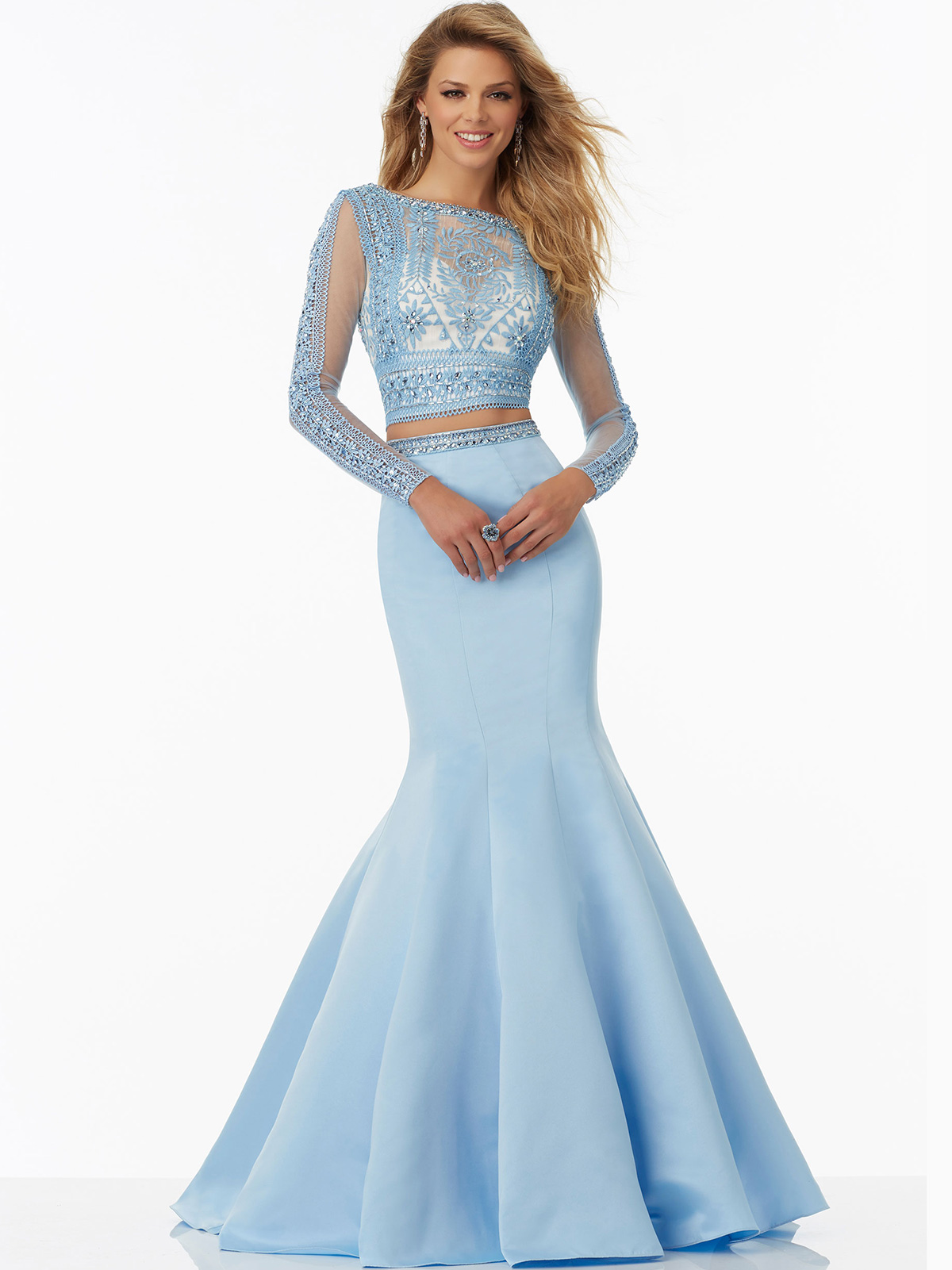 Mori Lee 99029 Long Sleeved Mermaid Prom Gown|DressProm.net