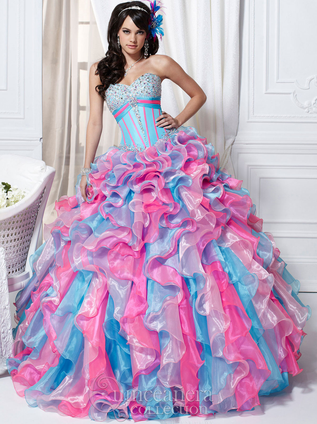 d5dcdb81c95 Sweetheart Ruffled Skirt Quinceańera Collection Quince Dress  26706Authorized Tiffany Quinceanera Retailer