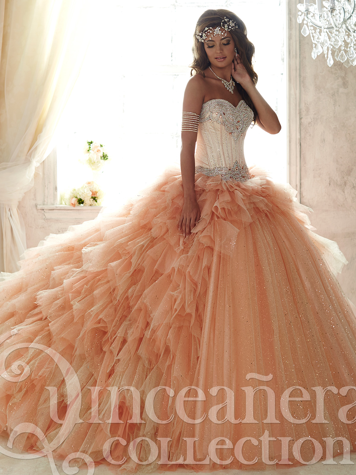 Quinceañera Collection 26821 Gold Bodice Ball Gown|DressProm.net