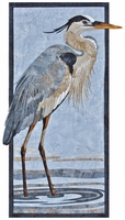 "Great Blue Heron  Pattern 11 1/2"" x 25 1/2"""