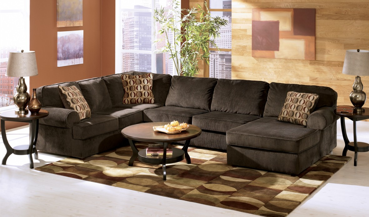 Ashley Furniture Chocolate Sectional Black Models Picture