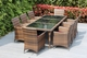 Beautiful Ohana Outdoor Patio Wicker Furniture  Dining set 8 Chairs.