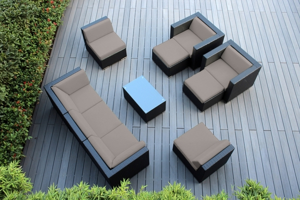 Ohana Outdoor Patio Wicker Furniture 10 pc couch set.  Additional $250 off. Now at $1749.00. (M250)