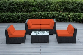 Ohana  Outdoor Patio Wicker Furniture  5 pc sectional couch set.  Additional $100 off.  Now at $1099