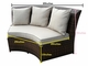 Beautiful Ohana Outdoor Patio Wicker Furniture Sectional 5 pc couch set
