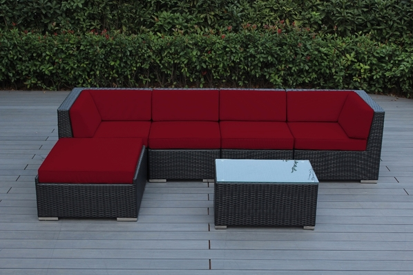 Beautiful Ohana Outdoor Patio Wicker Furniture Sectional 6 pc couch set.  Additional $150 off.  Now at $1149