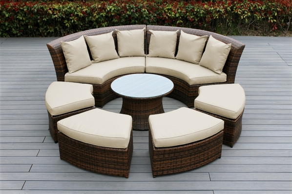 Couch Cover For Round Sectional
