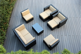 Outdoor Patio Wicker Furniture Sectional 9 pc couch set