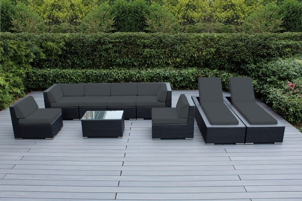Beautiful Outdoor Patio Wicker Deep Seating Sofa And