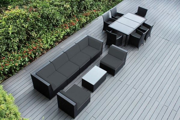 Ohana Outdoor Patio Wicker Furniture  Sofa and Dining  14 pc set.   Addtional $300 off.  Now at $2499 ( Coupon code: M300)