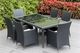 Ohana Outdoor Patio Wicker Furniture  Sofa and Dining  14 pc set.
