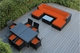 Beautiful Ohana  Outdoor Patio Wicker Sofa and Dining 14 pc set  -
