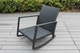 NEW: Ohana Patio Wicker Outdoor 3-Piece Rocking  Bistro Set- Two Chairs with Glass Coffee Table