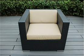 Ohana Outdoor Patio Wicker Furniture Club Chair ( BLACK, MIXED BROWN,  GRAY  Wicker )