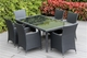 Ohana Outdoor Patio Wicker Furniture  Dining Set 6 Chairs