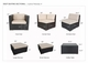 Ohana Outdoor Patio Wicker Furniture Sectional  Sofa and Dining 18 pc set.