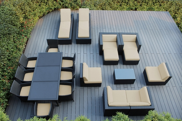 Ohana  Patio  Furniture Sectional  Sofa and Dining 20 pc set.   Combo 13% saving.  Additional $500 off.  Now at $3899 ( Coupon Code: M500)