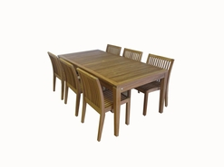 Oloa Outdoor Patio Teak Furniture Rectangular Dining Set.  Additional $300 off.  Now at $1399