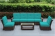 Ohana Outdoor Luxury Patio Furniture Sectional  Sofa 7 pc  set with Sunbrella Cushion (Tall Back )