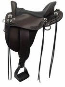 "15.5"" to 18.5"" Tucker Horizon Compass Rose Plantation Saddle 150 w/Free Pad"