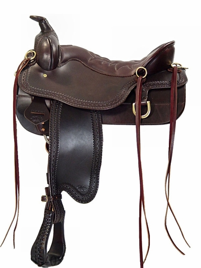 Tucker Cheyenne Frontier Border Tooled Trail Saddle 167